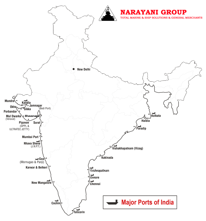 Mundra India  City new picture : Mundra Port India Map of All Ports in India